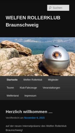Vorschau der mobilen Webseite www.welfenrk.de, Welfen Rollerclub Braunschweig