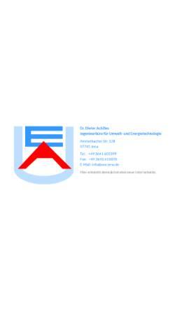Vorschau der mobilen Webseite www.uea-jena.de, Dr. Dieter Achilles