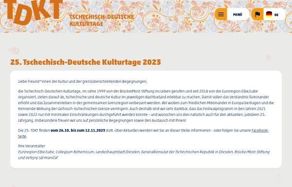 Vorschau von www.tschechische-kulturtage.de, Tschechische Kulturtage