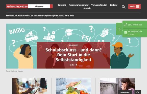 Vorschau von www.verbraucher.de, Verbraucher-Zentrale Hessen