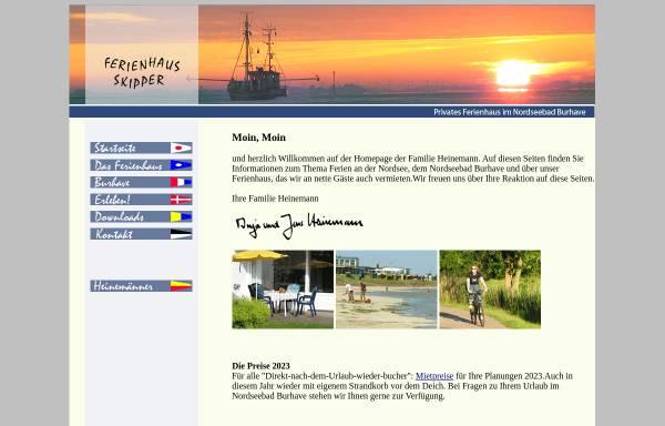 Vorschau von www.nordseeferienhaus.de, Ferienhaus, Familie Heinemann
