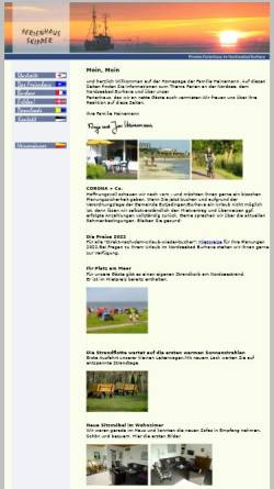 Vorschau der mobilen Webseite www.nordseeferienhaus.de, Ferienhaus, Familie Heinemann