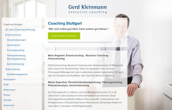 Vorschau von gerd-kleinmann.de, Gerd Kleinmann executive coaching GbR