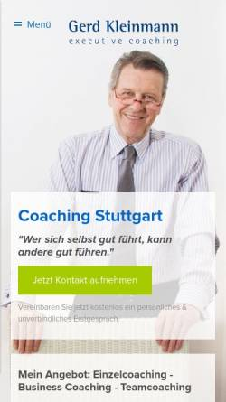 Vorschau der mobilen Webseite gerd-kleinmann.de, Gerd Kleinmann executive coaching GbR