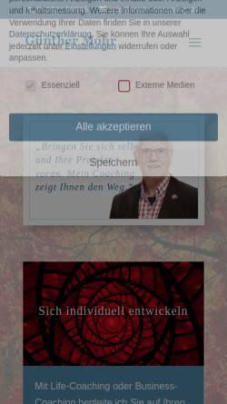 Vorschau der mobilen Webseite www.mohr-coaching.de, Günther Mohr - Institut für Coaching, Training und Consulting