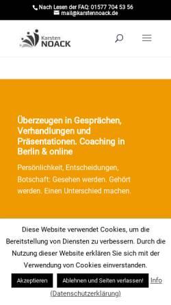 Vorschau der mobilen Webseite www.karstennoack.de, Karsten Noack