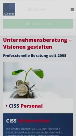 Vorschau der mobilen Webseite www.ciss-consult.de, Ciss-Consult, Inh. Dipl.-Betriebswirt (VWA) Andre Schurig