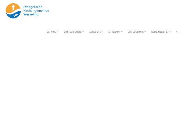Vorschau von www.evangelisch-wesseling.de, Evangelische Kirchengemeinde Wesseling