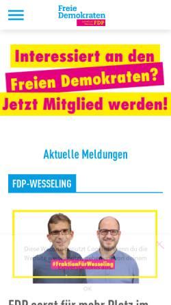 Vorschau der mobilen Webseite fdp-wesseling.de, FDP Wesseling