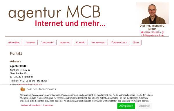 Vorschau von www.agentur-mcb.de, Agentur MCB