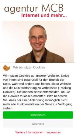 Vorschau der mobilen Webseite www.agentur-mcb.de, Agentur MCB