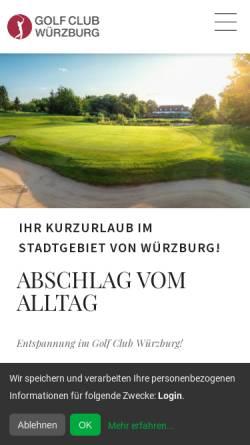 Vorschau der mobilen Webseite www.golfclub-wuerzburg.de, Golf Club Würzburg e.V.