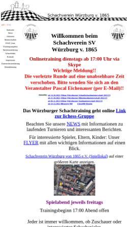 Vorschau der mobilen Webseite www.sv-wuerzburg-1865.de, Schachverein Würzburg 1865 e.V.