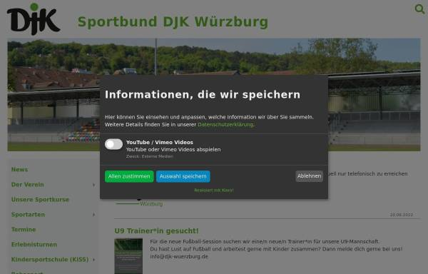 Vorschau von www.djk-wuerzburg.de, Sportbund Deutsche Jugendkraft Würzburg e.V.