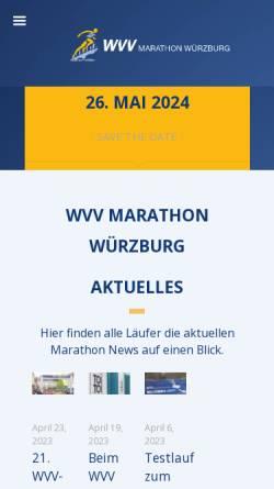 Vorschau der mobilen Webseite www.wuerzburg-marathon.de, Stadtmarathon Würzburg e.V.