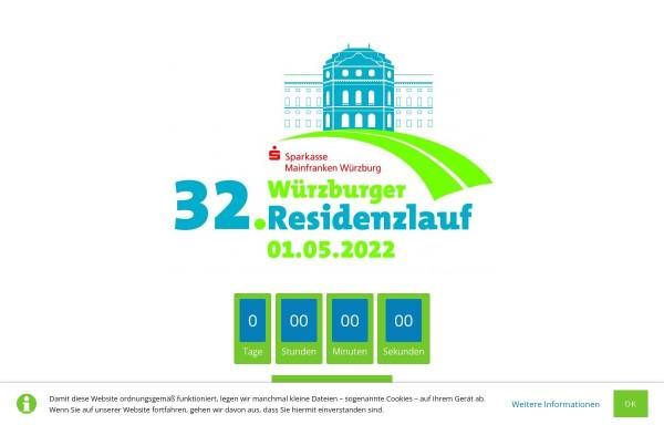 Vorschau von www.residenzlauf.de, Veranstaltergemeinschaft Würzburger Residenzlauf