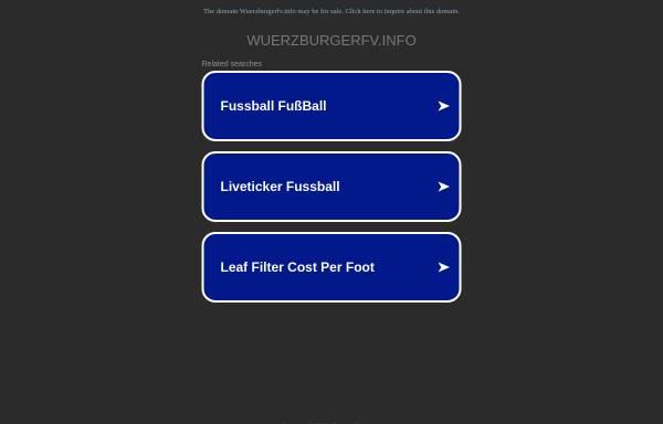 Vorschau von www.wuerzburgerfv.info, Würzburger FV