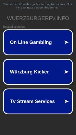 Vorschau der mobilen Webseite www.wuerzburgerfv.info, Würzburger FV