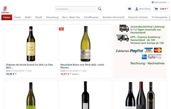 Vorschau von www.schweizerweineonline.de, LionHouse Trading Company Ldt.