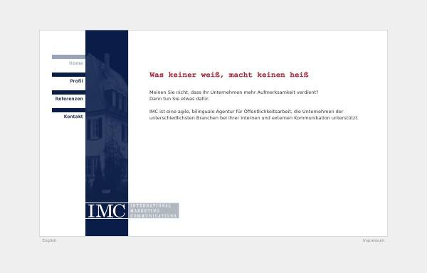 Vorschau von www.imc-pr.de, IMC International Marketing Communications - Richard T. Lane