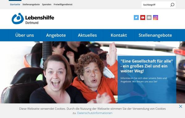 Vorschau von www.lebenshilfe-dortmund.de, Lebenshilfe für Behinderte Dortmund e.V.