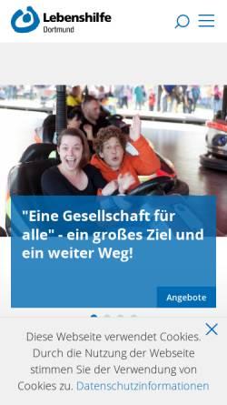 Vorschau der mobilen Webseite www.lebenshilfe-dortmund.de, Lebenshilfe für Behinderte Dortmund e.V.