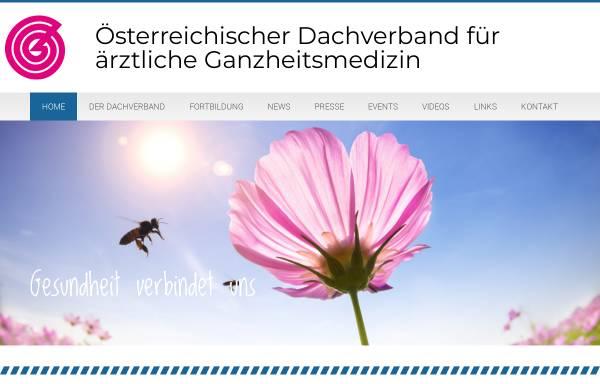 Vorschau von www.ganzheitsmed.at, Ganzheitsmedizin-Dachverband