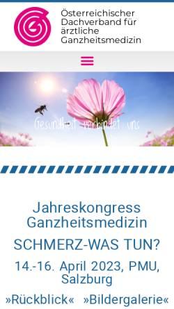 Vorschau der mobilen Webseite www.ganzheitsmed.at, Ganzheitsmedizin-Dachverband