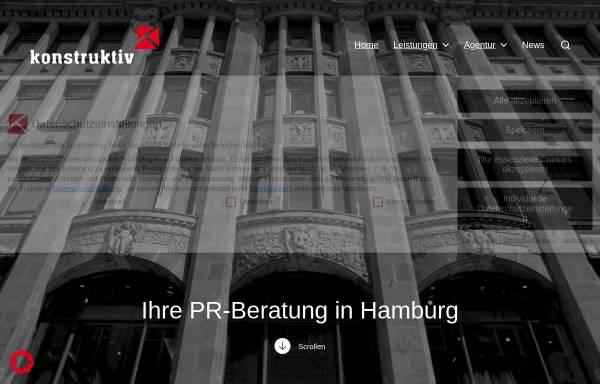 Vorschau von konstruktiv-pr.de, Konstruktiv PR-Beratungsgesellschaft mbH