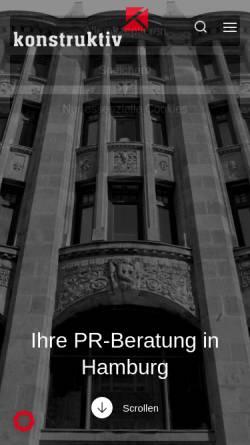 Vorschau der mobilen Webseite konstruktiv-pr.de, Konstruktiv PR-Beratungsgesellschaft mbH