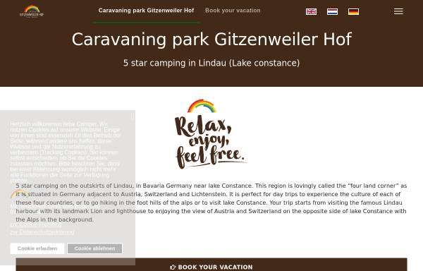 Vorschau von www.gitzenweiler-hof.de, Campingplatz Gitzenweiler Hof
