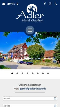 Vorschau der mobilen Webseite www.adler-lindau.de, Gasthof Adler