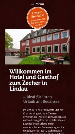 Vorschau der mobilen Webseite www.gasthof-zecher.de, Gasthof Zum Zecher