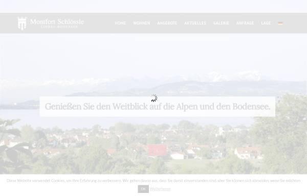 Vorschau von www.montfort-schloessle.de, Landgasthof Montfort Schlössle