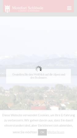 Vorschau der mobilen Webseite www.montfort-schloessle.de, Landgasthof Montfort Schlössle
