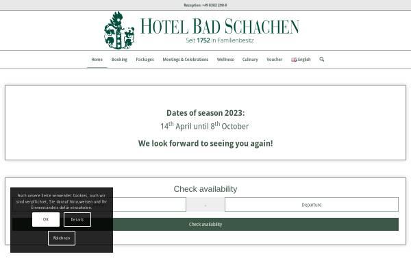 Vorschau von www.badschachen.de, Hotel Bad Schachen