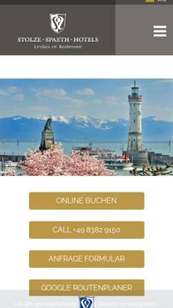 Vorschau der mobilen Webseite www.bayerischerhof-lindau.de, Hotel Bayerischer Hof