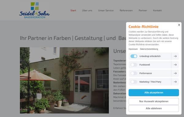 Vorschau von www.baudekoration-seidel.de, Baudekoration Seidel und Sohn GmbH