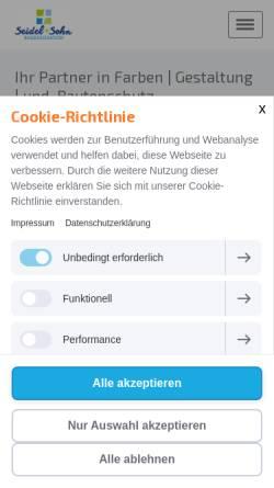 Vorschau der mobilen Webseite www.baudekoration-seidel.de, Baudekoration Seidel und Sohn GmbH