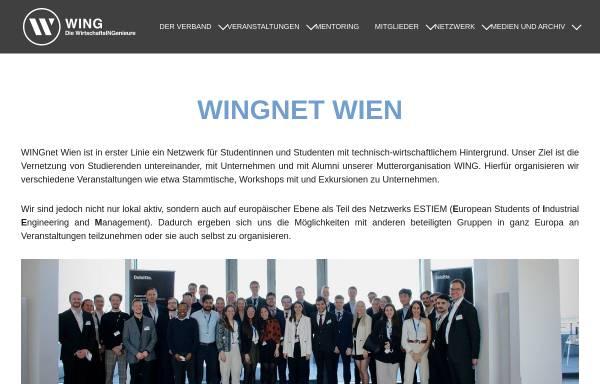 Vorschau von www.wingnet.at, WINGnet Wien - Studentennetzwerk an der TU Wien
