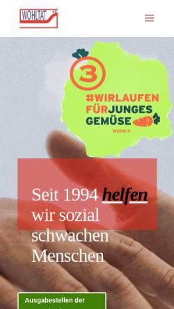 Vorschau der mobilen Webseite www.verein-wohltat.de, Wohltat e:V. Rostock