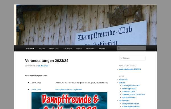 Vorschau von www.dampffreunde.ch, Dampffreundeclub Schüpfen