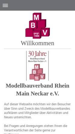 Vorschau der mobilen Webseite www.modellbauverband.de, Modellbauverband Rhein-Main-Neckar