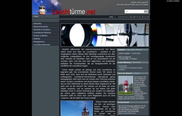 Vorschau von www.leuchttuerme.net, Leuchttürme in aller Welt