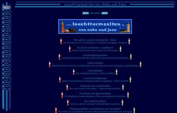 Vorschau von www.leuchtturmseiten.de, Leuchtturmseiten von Anke und Jens