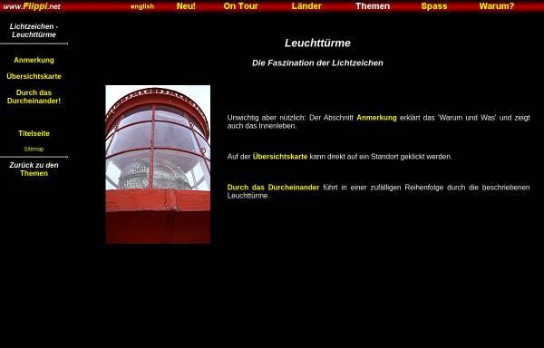 Vorschau von www.flippi.net, Lichtzeichen - Leuchttürme