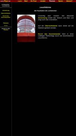 Vorschau der mobilen Webseite www.flippi.net, Lichtzeichen - Leuchttürme