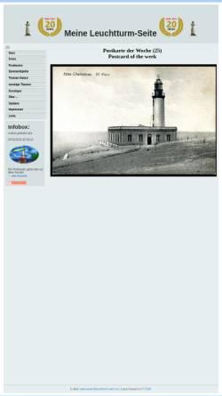 Vorschau der mobilen Webseite www.leuchtturm-welt.net, Meine Leuchtturm-Seite