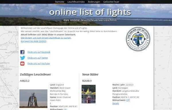 Vorschau von www.trabas.de, Trabas Leuchtfeuerverzeichnis