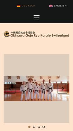 Vorschau der mobilen Webseite www.goju-ryu.ch, Goju-Ryu Karate Frauenfeld